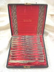 Mayflower By Welsh And Bro Sterling Silver Knives Set 12 Square Handle As 7 1/4
