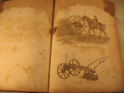 British Farmers Cyclopaedia Agricultural Dictionary Antique Old Leather 1809