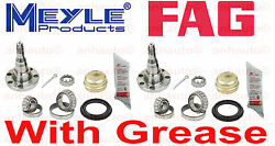 2-left+right Oem Rear Wheel Bearing Rear Stub Axle With Drum Brakeswithout Abs