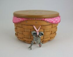 Longaberger 2010 Horizon Of Hope Basket Combo W Lid And Tie On Warm Brown