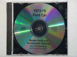 1973-79 Ford Car Complete Master Parts Text And Illustrations Catalog Cd