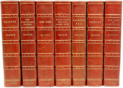 Life And Works Of Sisters Bronte - 7 Vols. - Haworth Edition - In A Fine Binding