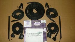 Weatherstrip 9pc Kit Door Roofrail Trunk Vertical U-shape 67 Coupe In Stock