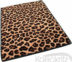 Leopold Leopard Print Cut Pile Area Rug 100 Stainmaster Nylon Many Sizes