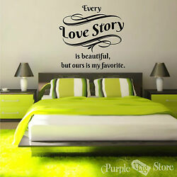 Love Story Vinyl Art Home Wall Bedroom Room Quote Decal Sticker Decoration