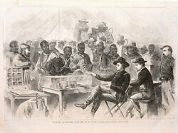 Harperand039s Weekly Page Civil War Paying The Negro Teamsters Of Union Army 1863