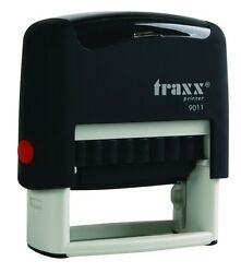 Custom Self Inking Rubber Stamp Traxx 9011 3 Line Return Address $8.99