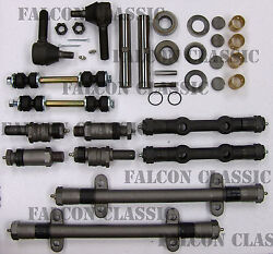 Cadillac Deluxe Front End Suspension Rebuild Kit Tie Rod Ends+king Pins 1955-56