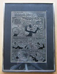 Daffy Duck And Elmer Fudd Vintage Early 1970and039s Press Plate Daffy Duck 105 Pg 8