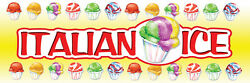 2ft X 6ft Italian Ice Gy Vinyl Banner 2and039x6and039 -alt To Banner Flag 183