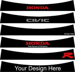 Pre Cut Sunstrip For Honda Civic Mk 8 2006 To 2010 No Trimming Required