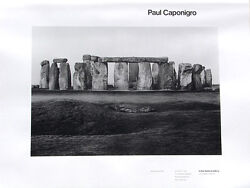 Caponigro•stonehenge 1954•hawkins Gallery•hand Signed Limited Edition Poster