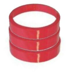 Red Color Heat Shrink Bands - Fits Round Plastic Soup/deli Containers Cups