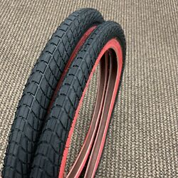 Bicycle Tires Red Wall 20 X 1.95 Fit Rat Rod Sears Roadmaster Bikes New