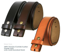 Genuine Leather Belt Strap Casual Belt Snap 1-12