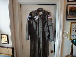 Us Navy Military Nomex Flight Suit + Patches Va-35 And03970 Nam Cruise