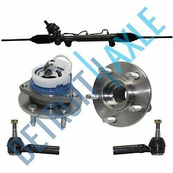Complete Rack And Pinion + 2 New Outer Tie Rod + 2 Wheel Hub Bearing Assembly