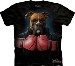 Boxer Rocky T-Shirt by The Mountain. Boxer Dog Manimal Boxing Gloves S-5XL NEW