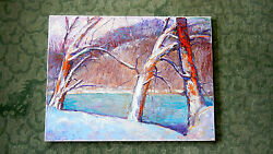 Landscape Paintings By Bill Jersey, Oil On Canvas, The Textures Of Winter