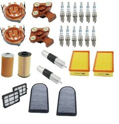 For BMW E38 750iL V12 5.4 Tune Up Kit Air Cabin Fuel Oil Filters Spark Plugs
