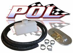 Master Cylinder Remote Fill Reservoir Cap Kit For Chevy Ford Street Rods And Hot