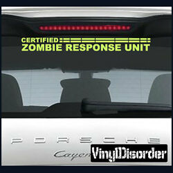 Zombie Response Unit Wall Decal Or Car Vinyl Decal Kc06