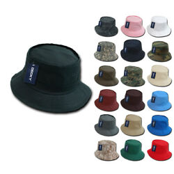 100 New Fishermanand039s Bucket Hat Hats Constructed Cotton Decky Wholesale Lot
