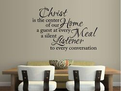 CHRIST IS THE CENTER OF OUR HOME... VINYL WALL DECAL STICKER DECOR