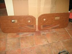 New Pair Of Door Panels For Mgb 1977-80 Autumn Leaf Top Quality Made In The Uk