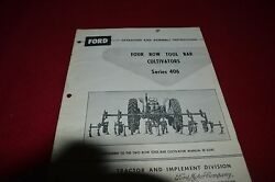 Ford Tractor 406 Rear Mounted Tool Bar Cultivator Operator's Manual Chpa