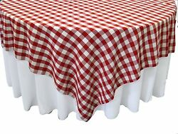 20 Checkered Tablecloths 72andtimes72 Square Overlays Polyester Gingham Buffalo Check