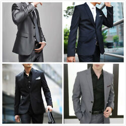 Two Button Mens Suits Solid Formal Wedding Tuxedo Suit Party Holiday Gift Xs-5xl