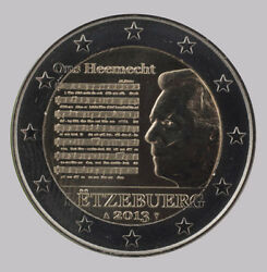 Luxembourg 2013 - 2 Euro Commemorative - Luxembourg National Anthem Unc
