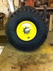 SET OF FOUR MICHELIN XZL RADIAL TIRES & RIMS FOR VOLVO L50C, L60D LOADER