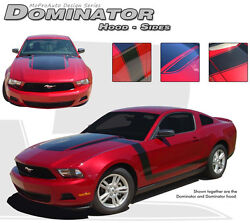 Dominator Boss Style Hood Sides 3m Stripe Graphic Decal 2011-2012 Ford Mustang