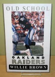 Willie Brown Old School Oakland Raiders 11x17 Poster