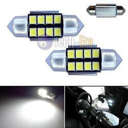 2pcs White 31mm DE3175 8-SMD-3528 Samsung LED Bulbs For Interior Dome Map Lights