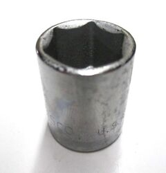 Easco Tools 6pt. 3/8 Drive Deep Socket 9/16 Chrome 521118 Made In The Usa