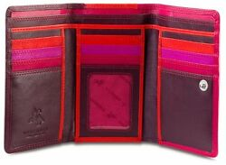 Visconti RB43 Multi Colored Soft Large Trifold Leather Ladies Wallet Gift Boxed $35.99