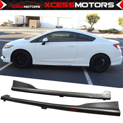 Fits 12-15 Honda Civic 2dr Hf-p Style Pu Side Skirts Extension Unpainted Pu