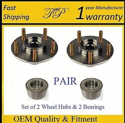 Front Wheel Hub And Bearing Kit For 2003-2016 Toyota Corolla Pair