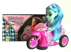 Childrens Girls Monster High Bump And Go Bike Toy With Light Sound Great Gift Idea