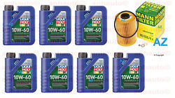 7-liters Liqui Moly 10w60 Synthetic Motor Oil And 1-mann Oil Filter