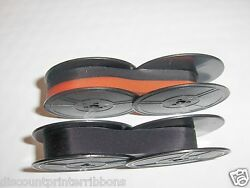 2 Pack Black And Red Smith Corona Clipper Typewriter Ribbon Combo 2 Ribbons