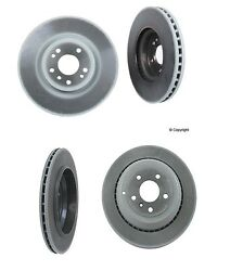 Set Of 4 Genuine Benz Brake Rotors 2-front And 2-rear 350mm Dia Frontandvented Rear
