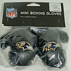 Nfl Baltimore Ravens 4 Inch Mini Boxing Gloves For Mirror By Fremont Die