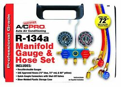 Certified AC Pro  R134a Professional Manifold Gauge and Hose Set 429