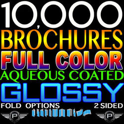 10000 Personalized Brochure 11x17 Full Color 2 Sided 11x17 100lb Glossy Folded
