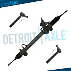 4pc Rack And Pinion + Outer Tie Rods Kit For Lexus Rx330 Rx350 Toyota Highlander