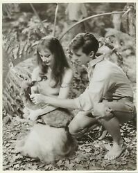 Audrey Hepburn And Anthony Perkins In Green Mansions Original Vintage Photo 1959